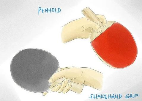 penhold and shakehand